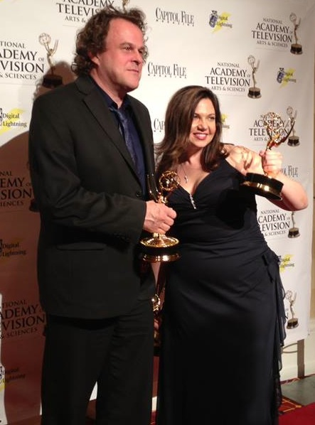 WBFF Investigative Producer Stephen Janis, shown here last year with Reporter Melinda Roeder, has been nominated for the third consecutive year for his investigative work at the Baltimore-based TV station.