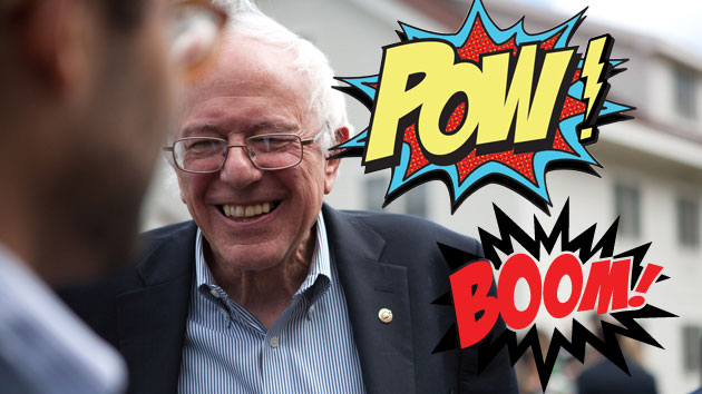 Independent Vermont Senator Bernie Sanders was the only remaining presidential candidate of the two major parties to ignore an invitation to address the American Israel Public Affairs Committee's annual Policy Conference last week.  What was he thinking?  (Photo/Mother Jones<>/em)