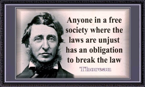 Transcendentalist Henry David Thoreau is best known for his book Walden, which advocates simple living in natural surroundings, and his 1849 essay Resistance to Civil Government (a/k/a Civil Disobedience) which states that the individual has an obligation to disobey the laws of an unjust state.
