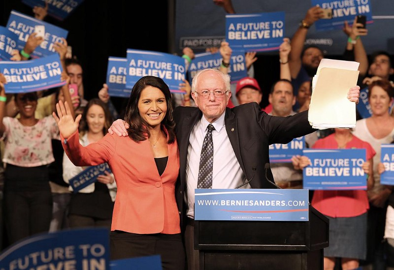 Tulsi Gabbard risked her political career by backing Vermont Sen. Bernie Sanders in his bid to deny the Democratic presidential nomination to the anointed Hillary Clinton.