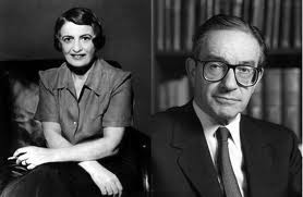 "Former Federal Reserve Chairman Alan Greenspan was a member of Ayn Rand's inner circle in the 1950s/60s, known as ""The Collective."""