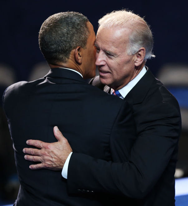 Vice President Joe Biden, right, was Barack Obama's preferred successor as presi- dent — not Hillary.   Both Barack and Michelle Obama intensely dislike the Clintons.