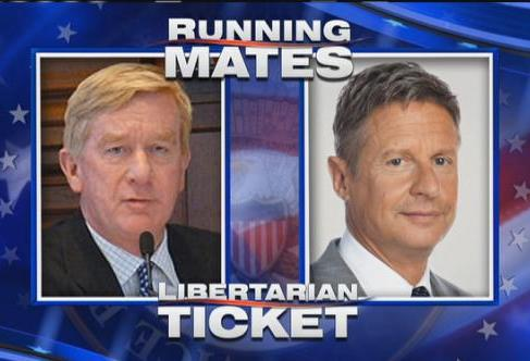 Former Massachusetts Gov. William Weld (left) is the LIbertarian Party's nominee for vice president.  His running mate is ex-New Mexico Gov. Gary Johnson.