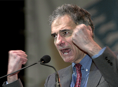The supreme ego of Green Party presidential nominee Ralph Nader, shown here during the 2000 election campaign, enabled George W. Bush to eke out a narrow victory over then-Vice President Al Gore in the key battleground State of Florida, much like Jill Stein cost Hillary Clinton a crucial victory this year on Nov. 8th in Wisconsin.